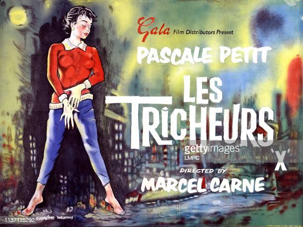 Les Tricheurs lobbycard French poster art Andrea Parisy 1958