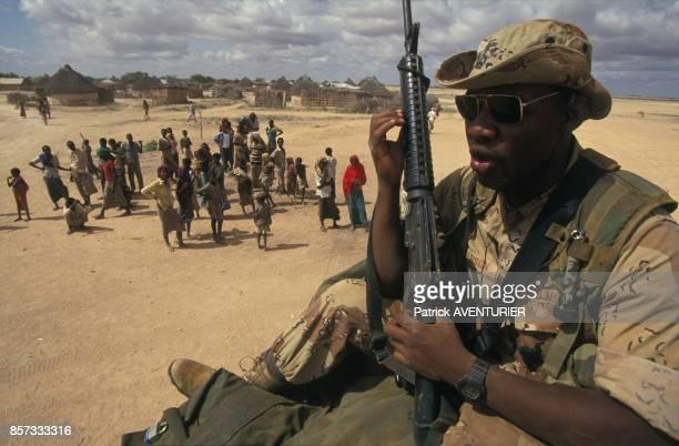 Les troupes americaines pendant l'operation Restore Hope en decembre 1992 en Somalie