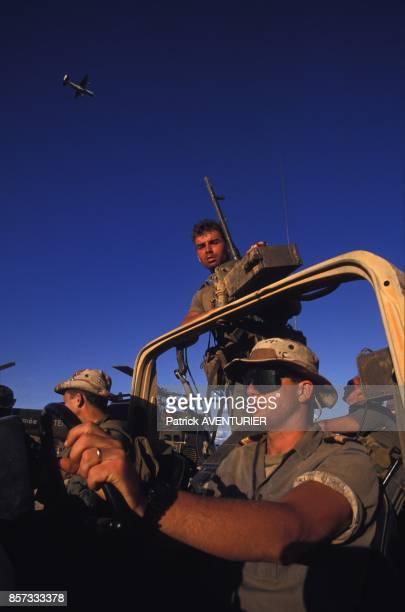 Les troupes francaises pendant l'operation Restore Hope en decembre 1992 en Somalie