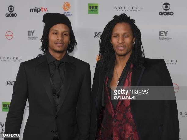 Les Twins arrive for the 45th International Emmy awards gala in New York city on November 20 2017 The International Emmy Award is an award ceremony...
