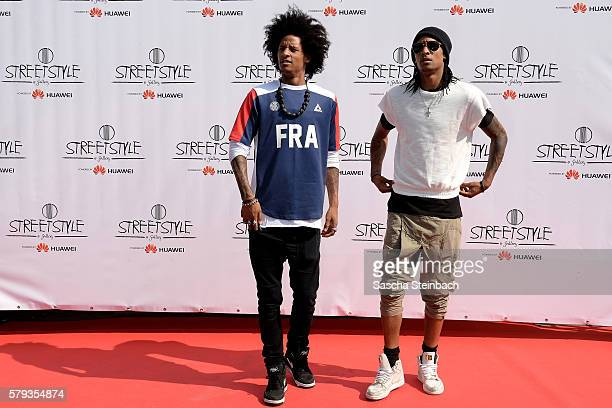 Les Twins attend day 1 of the Streetstyle@Gallery event at Areal Boehler on July 22 2016 in Duesseldorf Germany