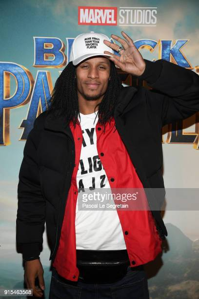 Les Twins attends the Black Panther Paris Special Screening at Le Grand Rex on February 7 2018 in Paris France