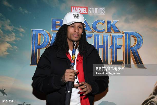 Les Twins attends the 'Black Panther' Paris Special Screening at Le Grand Rex on February 7 2018 in Paris France