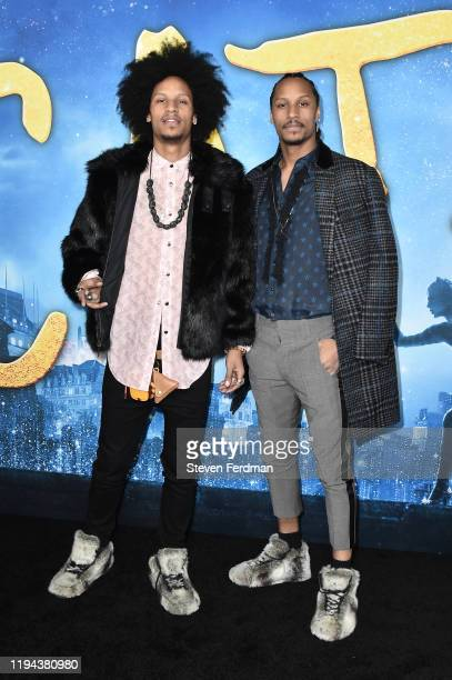 Les Twins attends the world premiere of Cats at Alice Tully Hall Lincoln Center on December 16 2019 in New York City