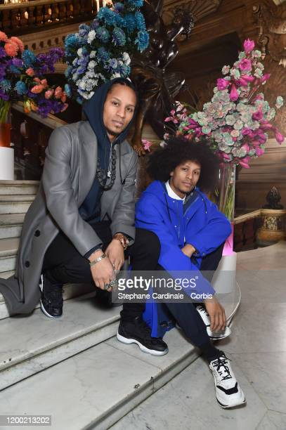 Les Twins Larry Bourgeois aka Ca Blaze and Laurent Bourgeois aka Lil Beast attend the Berluti Menswear Fall/Winter 20202021 show as part of Paris...
