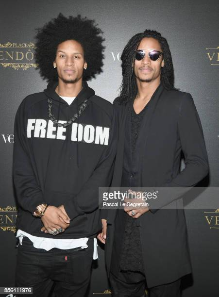 Les Twins Laurent and Larry Nicolas Bourgeois attendLaurent and Larry Nicolas Bourgeois the Vogue Party as part of the Paris Fashion Week Womenswear...