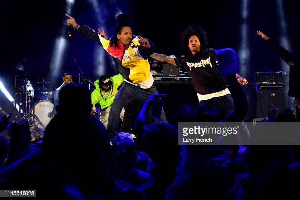 Les Twins perform at Sony's activation at SOMETHING IN THE WATER on April 27 2019 in Virginia Beach Virginia