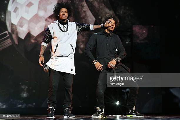 Les Twins perform during the 'YouTube OnStage Live from the Kennedy Center' Concert Event celebrating YouTube's 9th Birthday on May 28 2014 in...
