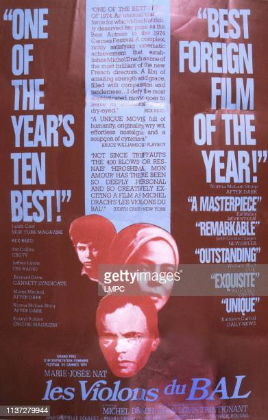 Les Violons Du Bal poster poster from back David Drach MarieJost Nat JeanLouis Trintignant 1974