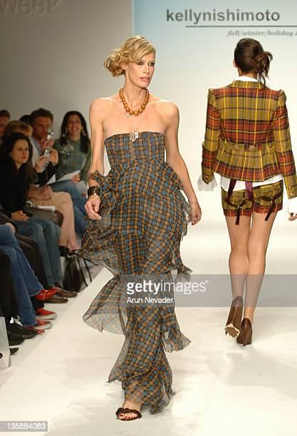 Lesa Amoore wearing Kelly Nishimoto Fall 2006 during MercedesBenz Fall 2006 LA Fashion Week at Smashbox Studios Kelly Nishimoto Runway at Smashbox...