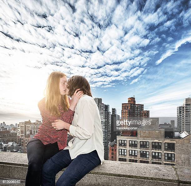 lesbian couple embracing togetherness in new york