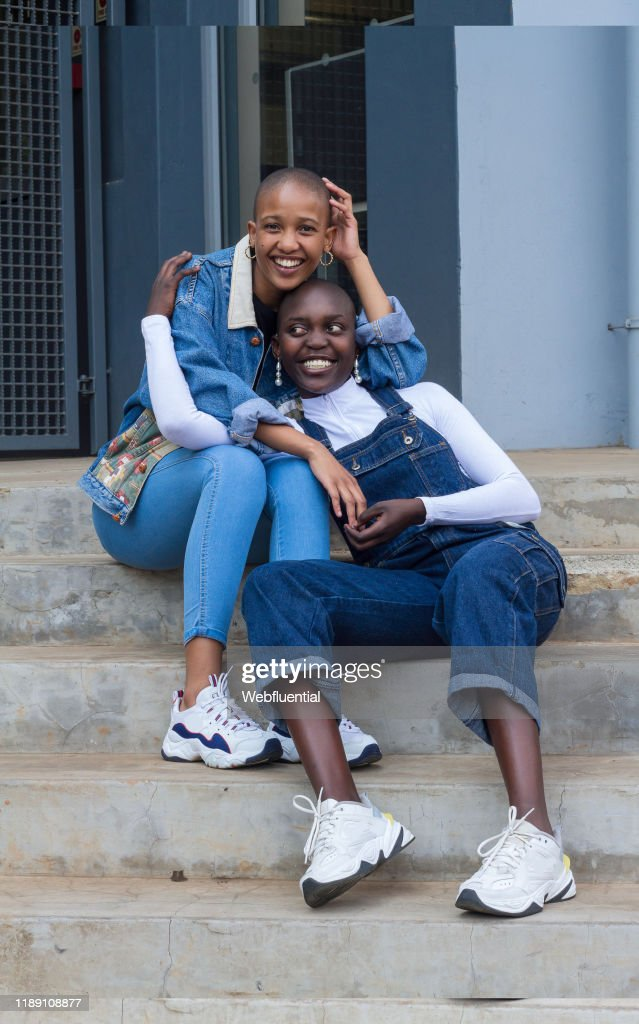 Lesbian couple from South Africa : Stock Photo