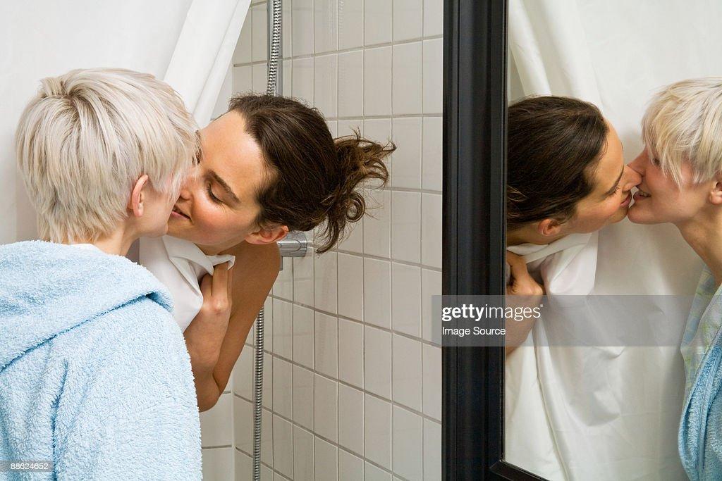 Lesbians Kissing In Shower