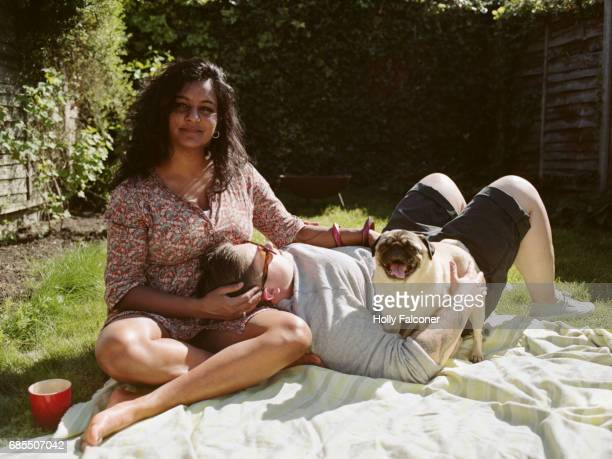 lesbian couple - picnic stock pictures, royalty-free photos & images
