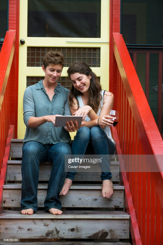 Images - Lesbian on Stairs