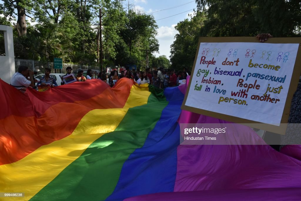 LGBTQ Community Members And Supporters Take Part In A Pride Parade In Bhopal