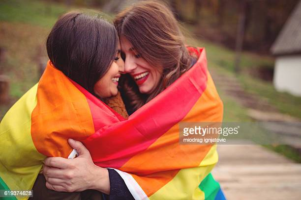 lesbian love - gay rights stock photos and pictures