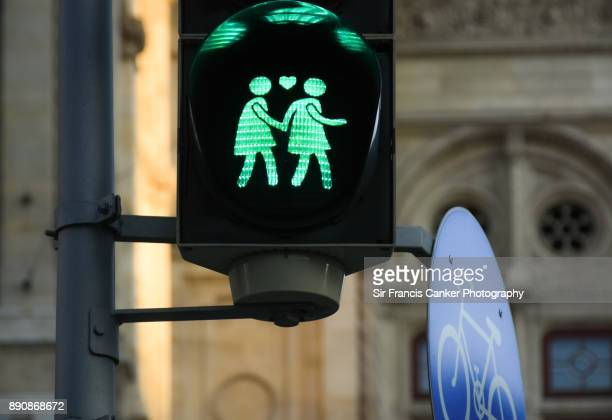 lesbian traffic light - social justice concept stock pictures, royalty-free photos & images