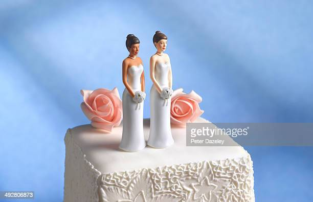 Lesbian wedding cake figurine