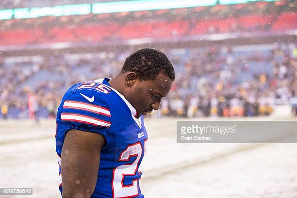 LeSean McCoy of the Buffalo Bills walks the sideline during the fourth quarter against the Pittsburgh Steelers on December 11 2016 at New Era Field...