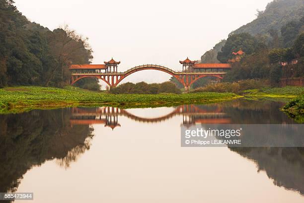 Leshan, Chengdu ZhuoYing ancient bridge