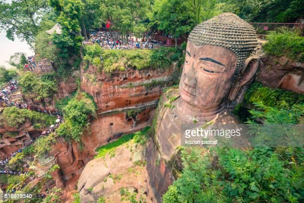 Leshan giant buddha in day ( Sichuan , China , Asia )