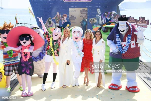 Lesia Nikitiuk Anke Engelke and Raya Abirached attend the photocall for Transylvania 3 during the 71st annual Cannes Film Festival at Majestic Beach...