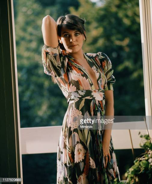 Lesley Anne Down British actress pictured at home in Primrose Hill London Wednesday 4th October 1972