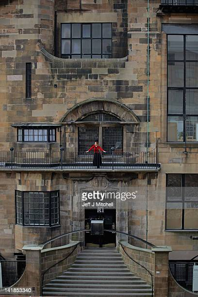 Lesley Booth stands on the balcony of the Glasgow School of Art Mackintosh building on March 25 2012 in Glasgow Scotland For the past 50 years it has...