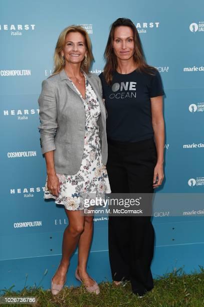 Lesley Broglia and Anne de Carbuccia attend One Ocean at Venice Film Festival on September 4 2018 in Venice Italy