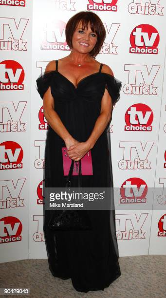 Lesley Dunlop attends the TV Quick Tv Choice Awards at The Dorchester on September 7 2009 in London England