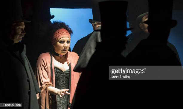 Lesley Garrett as Catherine Eddowes performs on stage in a production of Iain Bell's Jack The Ripper by the English National Opera at London Coliseum...