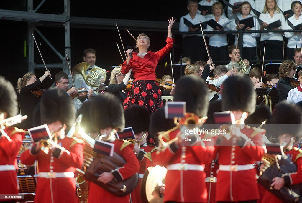 Lesley Garrett performs at the ceremony to name Cunard's new cruise-liner Queen Elizabeth II in Southampton Docks on October 11, 2010 in Southampton, England.