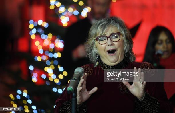 Lesley Garrett performs at Westminster Abbey on December 21, 2020 in London, England. Out to Perform has organised the carol concert which will be...