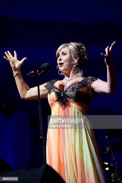 Lesley Garrett performs on stage as part of Tower Festival at the Tower of London on September 12 2009 in London England