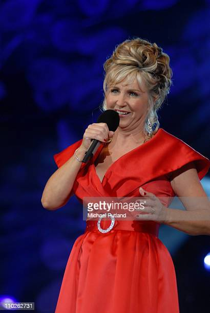 Lesley Garrett performs on stage Proms in the Park Hyde Park London 7th September 2007