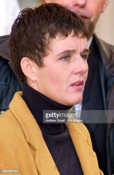 Lesley Halligan friend of Denise Fergus outside the High Court in London after learning that the Lord Chief Justice Lord Woolf cut the minimum...