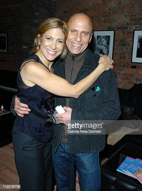 Lesley Jane Seymour and Steve Marino during MARIE CLAIRE Celebrates Fashion Beauty October 24 2005 at Home in New York City New York United States