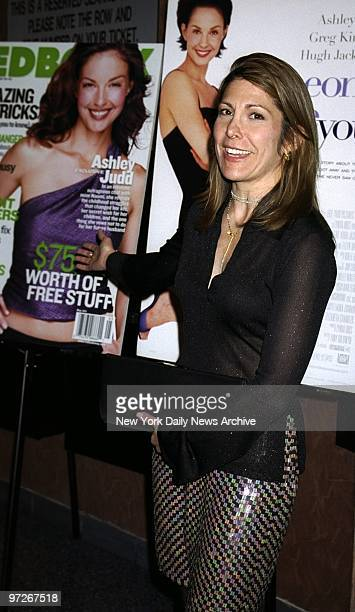 Lesley Jane Seymour editor in chief of Redbook magazine at Clearview's Chelsea West theater for the premiere of the movie Someone Like You Behind her...