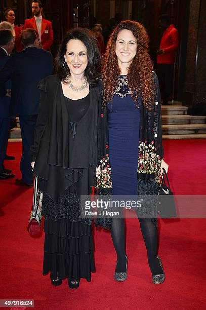 Lesley Joseph and Elizabeth Joseph attend the ITV Gala at London Palladium on November 19 2015 in London England