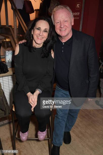 Lesley Joseph and Les Dennis attend the press night after party for 'The Life I Lead' at The Park Theatre on March 19 2019 in London England