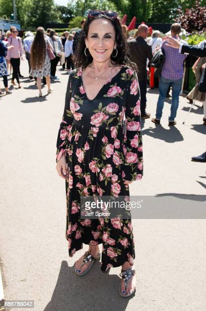 Lesley Joseph attends RHS Chelsea Flower Show press day at Royal Hospital Chelsea on May 22 2017 in London England