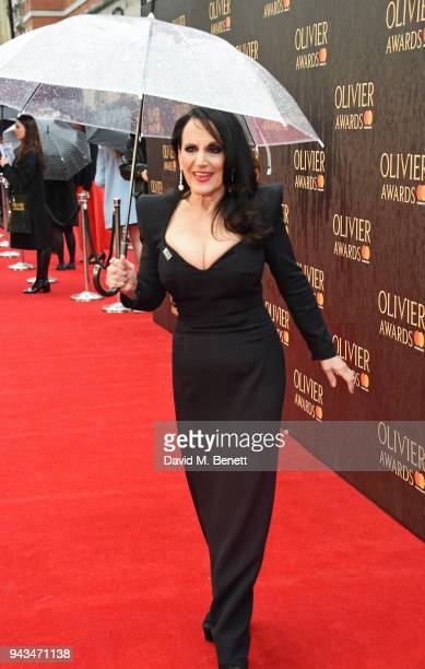 Lesley Joseph attends The Olivier Awards with Mastercard at Royal Albert Hall on April 8, 2018 in London, England.