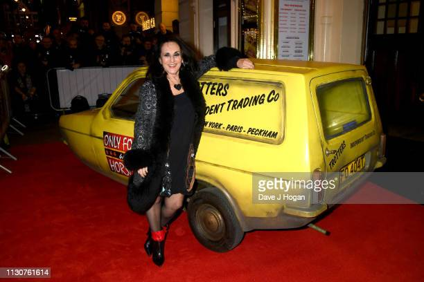 Lesley Joseph attends the opening night of Only Fools and Horses The Musical at Theatre Royal Haymarket on February 19 2019 in London England