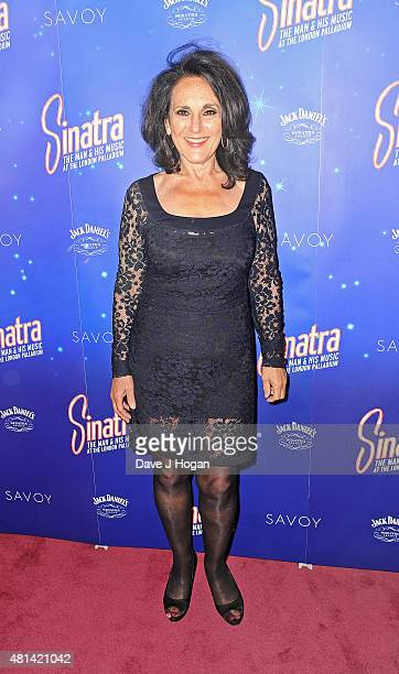 Lesley Joseph attends the press night of Sinatra At The London Palladium at London Palladium on July 20 2015 in London England