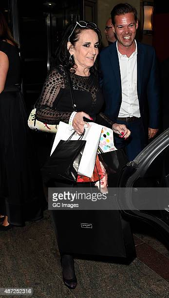 Lesley Joseph attends the TV Choice Awards on September 7, 2015 in London, England.
