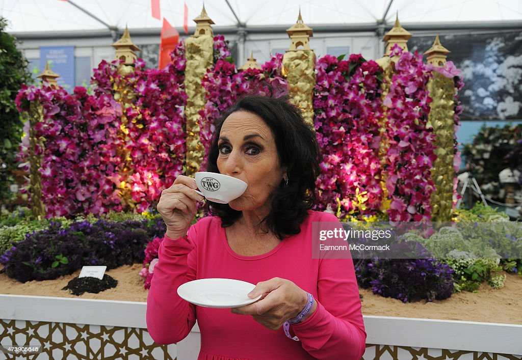 Lesley Joseph during the annual Chelsea Flower show at Royal Hospital Chelsea on May 18, 2015 in London, England.