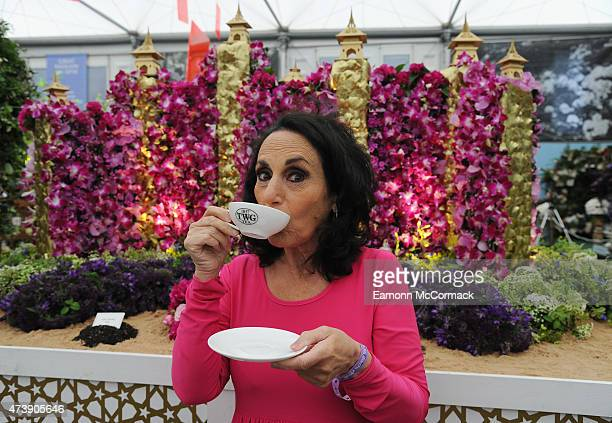 Lesley Joseph during the annual Chelsea Flower show at Royal Hospital Chelsea on May 18 2015 in London England