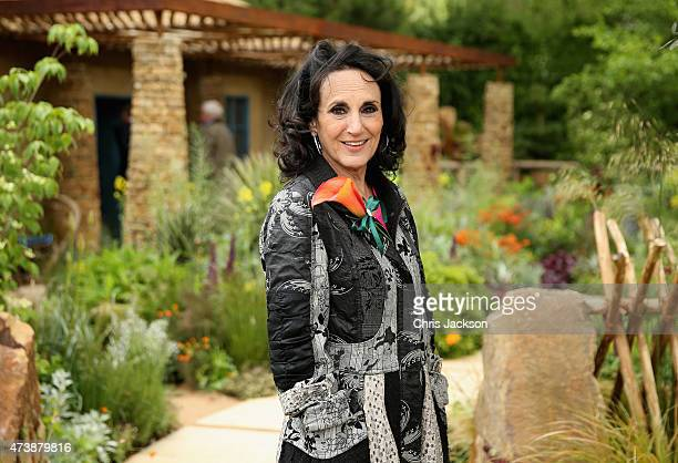 Lesley Joseph poses for a photograph at the Sentebale 'Hope In Vunerability' Garden during the annual Chelsea Flower show at Royal Hospital Chelsea...