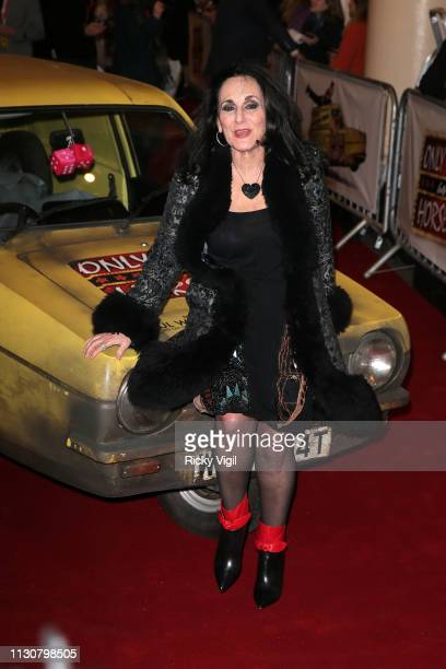 Lesley Joseph seen attending the Only Fools and Horses press night at Theatre Royal Haymarket on February 19 2019 in London England